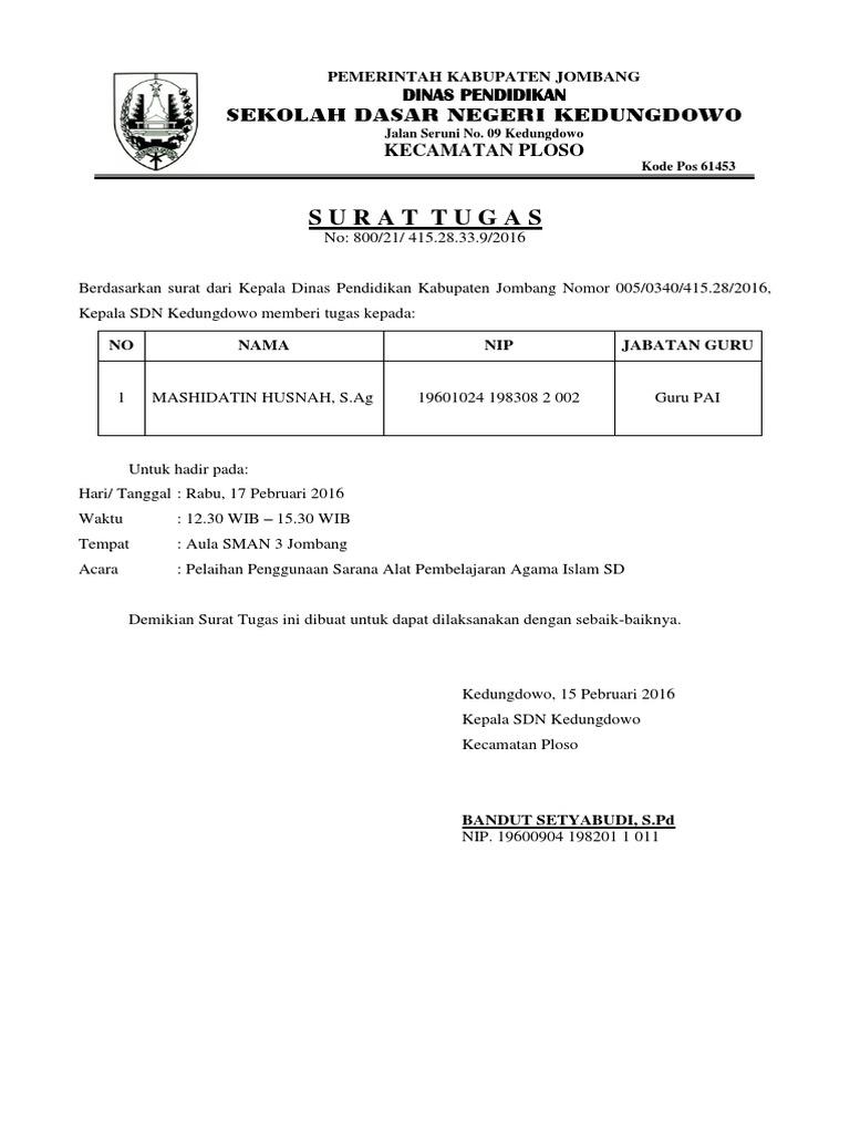 Kop Surat Dinas Pendidikan Kabupaten Jombang - Contoh Kop ...