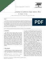 Martensitic Transformations in Nonferrous Shape Memory Alloys