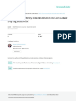 Impact of Celebrity Endorsement on Consumer Buying Behavior