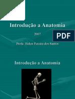 Introdução a anatomia