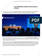 Microsoft Explica Cuánto Afectarán Spectre y Meltdown Al Rendimiento