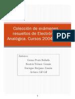 ANECA Colección de Exámenes Resueltos Electrónica Analógica