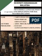 No Esl in English Schools Language Policy in Quebec