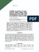acido oxalico entropia