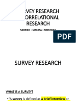 Survey & Correlational