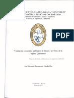 Valoracion Economica Ambiental de Bienes y Servicios de La Laguna Quenamari