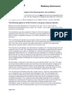 statutory disclosures