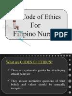 POWERPOINT PRESENTATION on NURSING CODE OF ETHICS (BON Res 220)