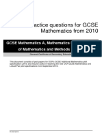 83374 Practice Questions for Gcse Mathematics