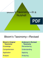 Blooms Taxonomy In a Nutshell