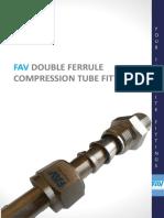 FAV Double Ferrule Compression Tube Fittings