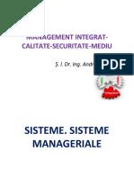 Curs de Management Integrat