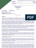 Timbol v Comelec g.r. No. 206004