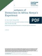 29 07 16 Importance Democracy Africa Kenya Experience Transcript