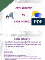 Estil Directe vs Indirecte