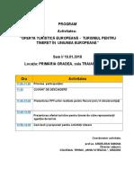 AGENDA - Activității Oferta Turistică Europeană(2)