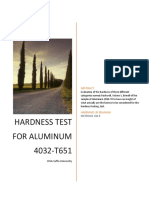 Report Hardness Lab (Aluminum)