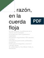La Razón en La Cuerda Floja