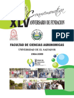 Revista Xlv Aniversario Agronomia, Universidad de El Salvador
