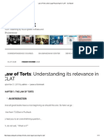 Law of Torts Under Legal Reasoning for CLAT - CLATapult