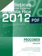 Libro Estadísticas 2012 de Procomer