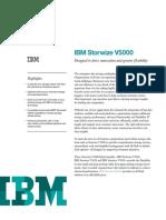 IBM Storwize V5000 - Data Sheet