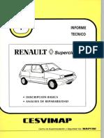 Informe reparación Renault 5 Supercinco R5