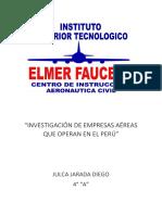Empresas Aéreas Que Operan en El Perú