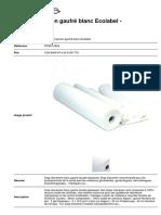 Draps d Examen Gaufre Blanc Ecolabel