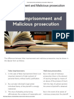 False Imprisonment and Malicious Prosecution _ Infipark