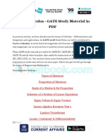 Vector Calculus - GATE Study Material in PDF