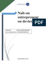 Nait on Entrepreneur Ou Devient on(1)