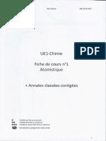 FC 1 Atomistique