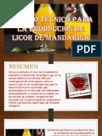 ESTUDIO TÉCNICO PARA LA PRODUCCIÓN DE LICOR DE MANDARINA