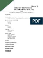 Fluorescent Treponemal Antibody Absorption FTA ABS Test