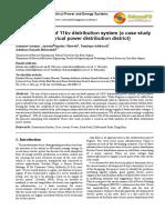 Fault Analysis of 11kv Distribution System