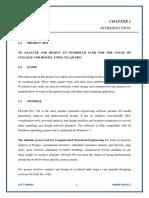 Overhead Tank Report File