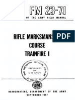 FM 23-71-Rifle Marksmanship Course Trainfire I (1957)