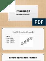 Informația.REZOLVAREA PROBLEMELOR