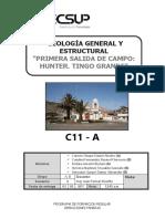 Informe salida de campo Geología General y Estructural TECSUP