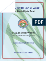 Delhi University Master in Social Work Syllabus 1