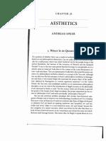 A. SPEER - Aesthetics - Oxford Handbook of Medieval Philosophy