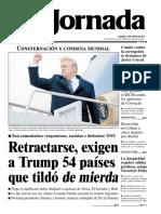 Portada La Jornada 13/01/2018