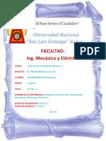 Parámetros Eléctricos del transformador Monofásico y Mediciones Eléctricas.
