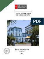 Instituto Nacional Del Niño POA 2017