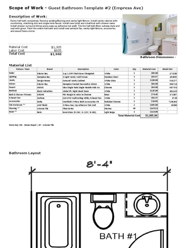 C11.2.2 - Bathroom Templates & Stamps | Bathroom | Sink