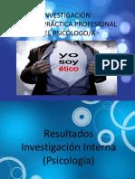 INVESTIGACIÓN Etica y Practica Profesional