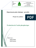 Rapport Acide Phosphorique PS