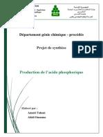 Rapport Acide Phosphorique PS