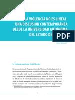 La Violencia No Es Lineal. Una Discusión Contemporánea Desde La UAEM